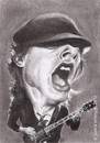 Cartoon: Angus Young of ACDC (small) by Joen Yunus tagged rockstar,pencil,drawing,caricature