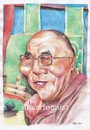 Cartoon: Dalai Lama (small) by Joen Yunus tagged carricature colored pencil dalai lama universal yin yang chi