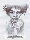 Cartoon: jimi hendrix (small) by Joen Yunus tagged caricature pen black white jimi rock guitarist