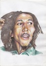 Cartoon: Robert Nesta Marley (small) by Joen Yunus tagged carricature colored pencil rasta marley