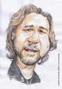 Cartoon: Russel Crowe (small) by Joen Yunus tagged carricature,colored,pencil,russel,crowe,hollywood,actor,film