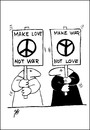 Cartoon: military (small) by SAI tagged war,love,peace
