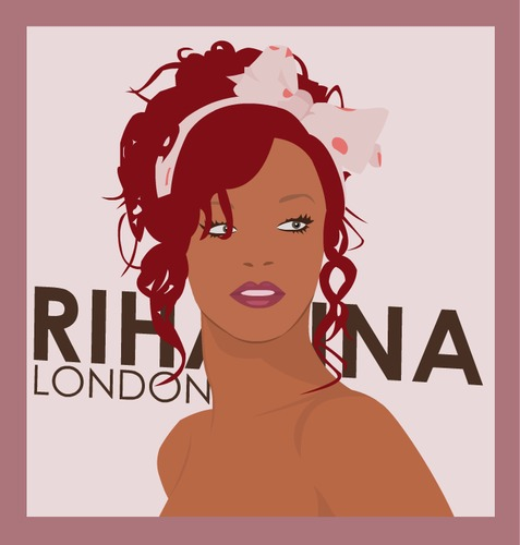 Cartoon: Rihanna (medium) by worldskit tagged hair,red,rihanna