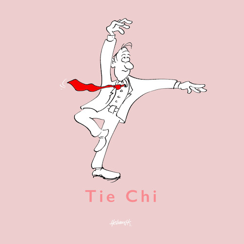 Cartoon: Tie-Chi (medium) by helmutk tagged fashion