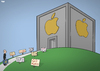 Cartoon: Apple and Taxes (small) by Tjeerd Royaards tagged apple,eu,tax,ireland,taxes,income,profit,europe