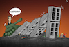 Cartoon: Assad in Syria (small) by Tjeerd Royaards tagged idlib,syria,war,assad,refugees,domino