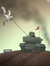 Cartoon: Bringing Peace (small) by Tjeerd Royaards tagged turkey,kurds,war,syria,tank,erdoganm