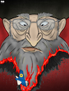 Cartoon: Burning Beard (small) by Tjeerd Royaards tagged iran,ukraine,khamenei,protest,burn,beard,regime