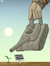 Cartoon: Democracy in Sudan (small) by Tjeerd Royaards tagged sudan,khartoum,army,military,violence,vote,freedom,elections