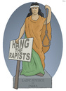 Cartoon: Lady Justice of India (small) by Tjeerd Royaards tagged india,justice,rape,murder,delhi,bus,vistim,women,woman,cartoon,death,penalty