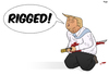 Cartoon: Rigged (small) by Tjeerd Royaards tagged trump,elections,rigged,fraud,usa