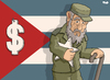 Cartoon: The end of communism on Cuba? (small) by Tjeerd Royaards tagged cuba,castro,fidel,raul,havana,communism,economy,capitalism,money,free,enterprise