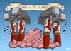 Cartoon: Who is to blame? (small) by Tjeerd Royaards tagged financial,crisis,banks,bankers,economy,money,capitalism