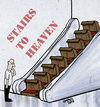 Cartoon: Stairs to heaven (small) by JARO tagged heaven,catholic