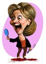 Cartoon: Hillary Clinton (small) by abbas goodarzi tagged hillary,clinton,america,blood,crimes,mirror,laughter