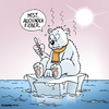 Cartoon: Armer Eisbär (small) by Rovey tagged eisbär,arktis,klimawandel,klima,erderwärmung,natur,umwelt,polar,eis,eismeer,eisscholle,eisberg,winter,sonne,schmelzen,wärme,fieber,umweltschutz,meer,wasser,tier,thermometer,veränderungen,ice,bear,cold,worm,nature,climate,changing,earth