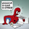 Cartoon: Spiderman bekommt Post (small) by Rovey tagged spiderman,superhero,held,superheld,comicfigur,actionfigur,actioncomic,finanzamt,steuern,steuerbescheid,steuererklärung,geld,einkommen,post,brief,spinne,spinnen,verrückt,überraschung,rot,red,spider,man,taxes,letter,tax,office,surprise,crazy