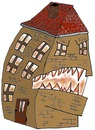 Cartoon: Come Home (small) by fantanton tagged haus,fun,teuflisch