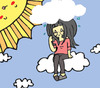 Cartoon: The Sun Appears (small) by Cartoonist Yellowgirl tagged cintya