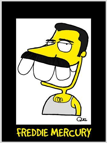 Cartoon: FREDDIE MERCURY CARICATURE (medium) by QUEL tagged freddie,mercury,caricature