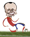 Cartoon: Andres Iniesta (small) by pincho tagged andres,iniesta,seleccion,barcelona,futbol,football,spain,crack,mundial,sudafrica