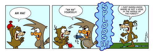 Cartoon: Water Balloon (medium) by Gopher-It Comics tagged waterballoon,gopherit,ambrose,digger