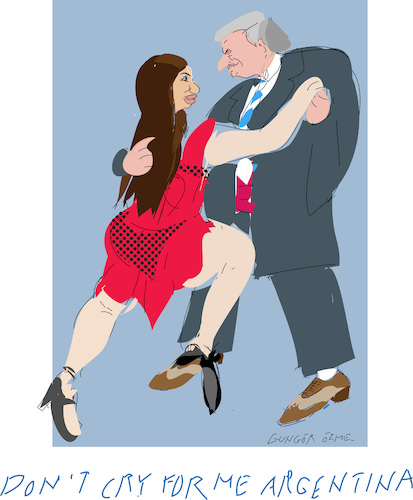 Cartoon: A.Fernandez and C.De Kirchner (medium) by gungor tagged argentina,argentina