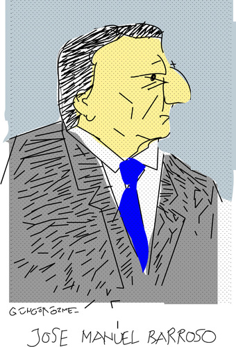 Cartoon: J.M.Barroso-2 (medium) by gungor tagged europe