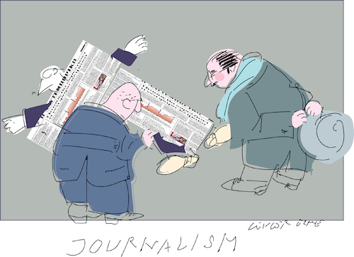 Cartoon: Journalism (medium) by gungor tagged news,papers,news,papers