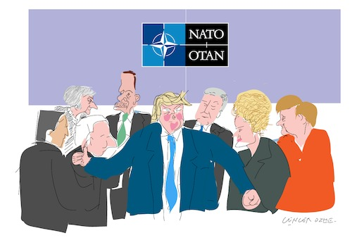 Cartoon: Nato Summit (medium) by gungor tagged europa