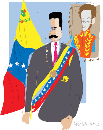 Cartoon: Nicolas Maduro Moros (medium) by gungor tagged venezuela