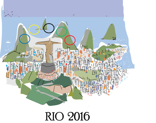 Cartoon: Rio. 2016 (medium) by gungor tagged brazil