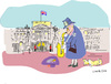 Cartoon: Austerity for Royal (small) by gungor tagged britain