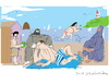 Cartoon: Baigneuses 3 (small) by gungor tagged france