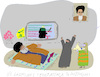 Cartoon: Cyber attacks (small) by gungor tagged middle,east