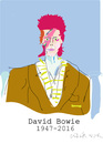 Cartoon: David Bowie (small) by gungor tagged uk