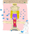 Cartoon: Holy Tweed (small) by gungor tagged pope