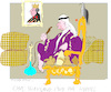 Cartoon: King in Exile (small) by gungor tagged spain
