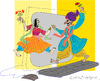 Cartoon: Marriage of Figaro (small) by gungor tagged digital