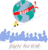 Cartoon: New Year 2020 (small) by gungor tagged climate,change