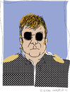 Cartoon: Sir Elton John (small) by gungor tagged musician