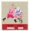 Cartoon: Sultan versus Trump (small) by gungor tagged turkey