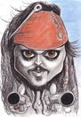Cartoon: captain jack sparrow (small) by Tomek tagged johnny,depp,captain,jack,sparrow,pirates,of,the,caribbean