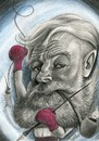 Cartoon: hemingway (small) by Tomek tagged hemingway,old,man,and,the,sea