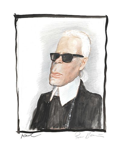 Cartoon: Karl (medium) by Peter Bauer tagged karikatur,karl,lagerfeld