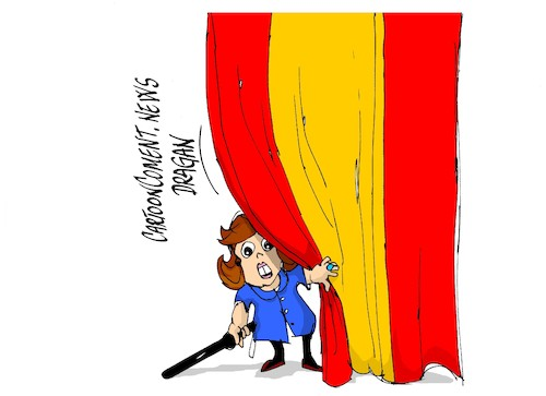 Cartoon: Soraya Saenz de Santamaria (medium) by Dragan tagged soraya,saenz,de,santamaria,psoe,espana,cataluna