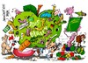 Cartoon: Grüne Woche-Berlin 2015 (small) by Dragan tagged grüne,woche,berlin,2015,agricultura,alimentacion,horticultura,cartoon