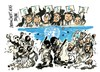 Cartoon: Islamistas y laicos-Tahrir (small) by Dragan tagged egipto,tahrir,islamistas,laicos,primavera,arabe,politics,cartoon