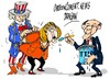 Cartoon: Mercel-Obama-TTIP (small) by Dragan tagged angela,mercel,barack,obama,ttip,politics,cartoon