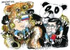 Cartoon: Vladimir Putin Hu Jintao (small) by Dragan tagged vladimir,putin,hu,jintao,rusia,china,pekin,cartoon,politic